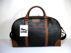 ボストンバッグ LEOPARD 小 黒